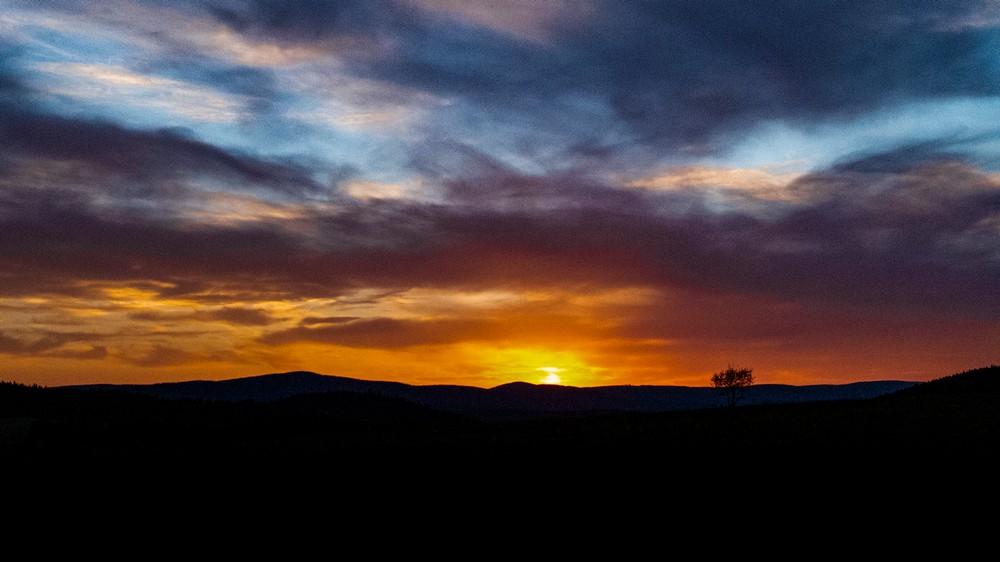 Zachód słońca na Jedlniku