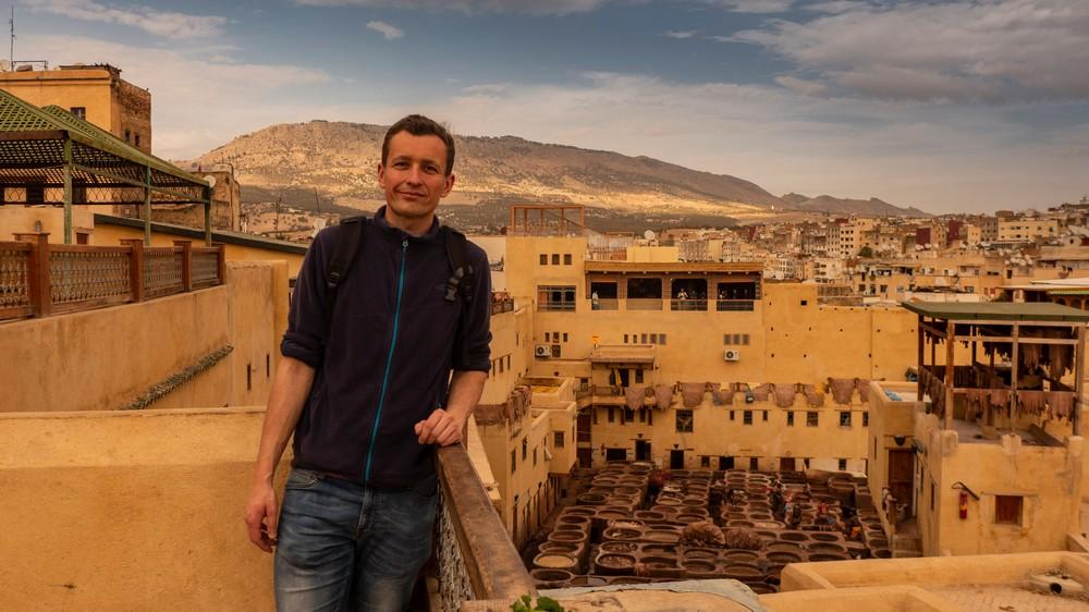 Garbarnie skór w Fezie Maroko