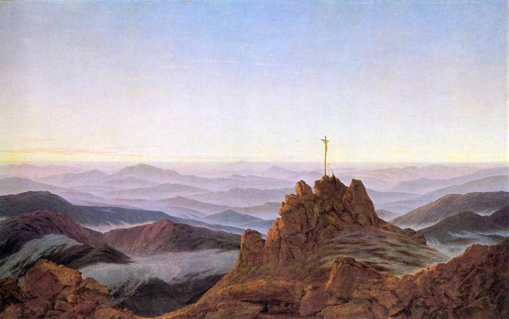 Poranek w Karkonoszach, Caspar David Friedrich