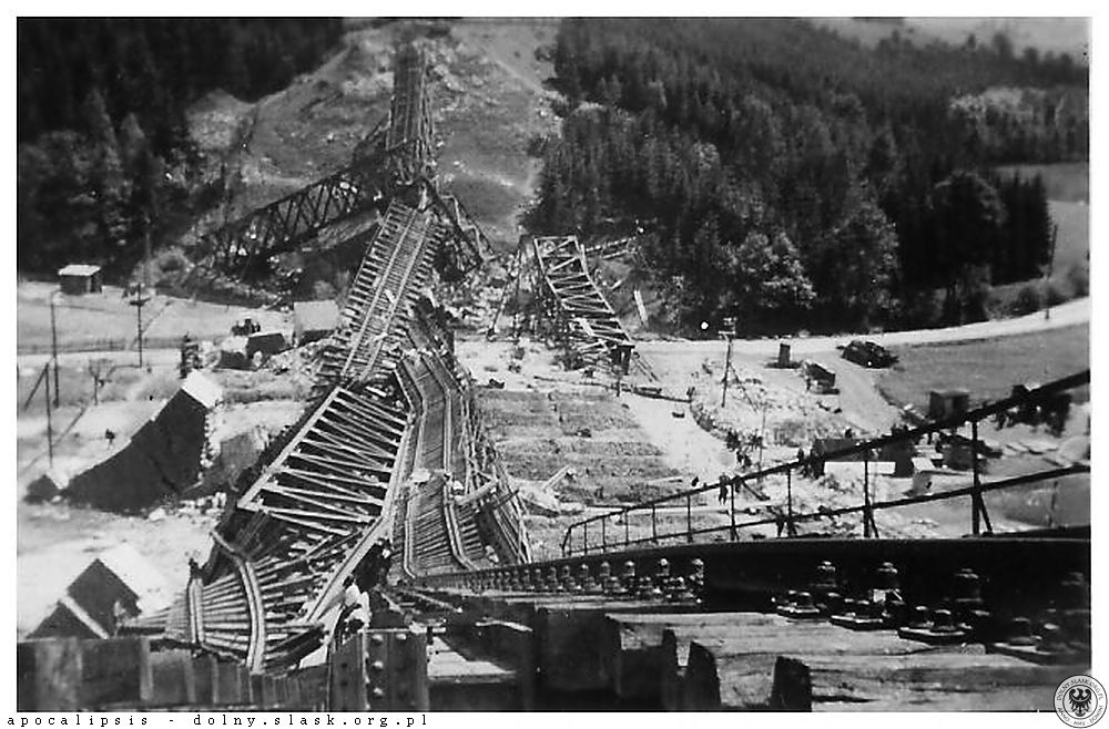 Wysadzony przed Niemców most Nowa Ruda Zatorze