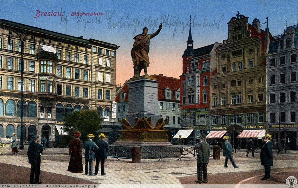 Pomnik Blüchera Plac Solny Wrocław