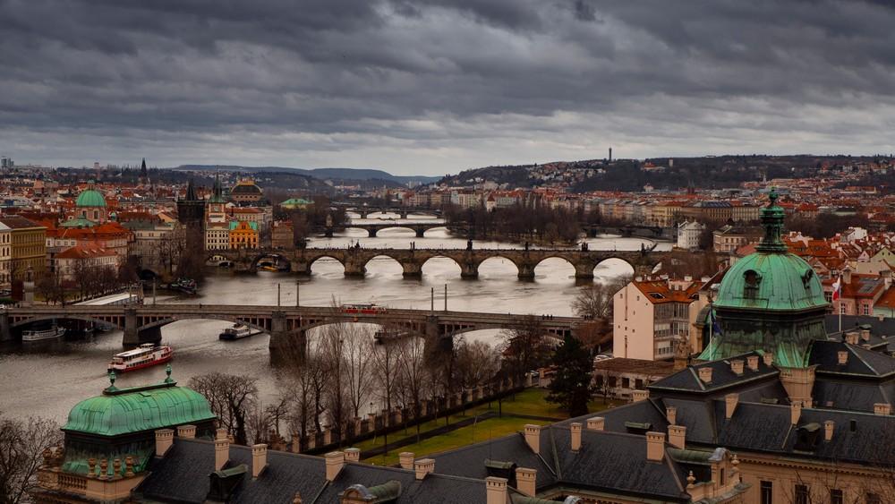 Praga z parku Letná