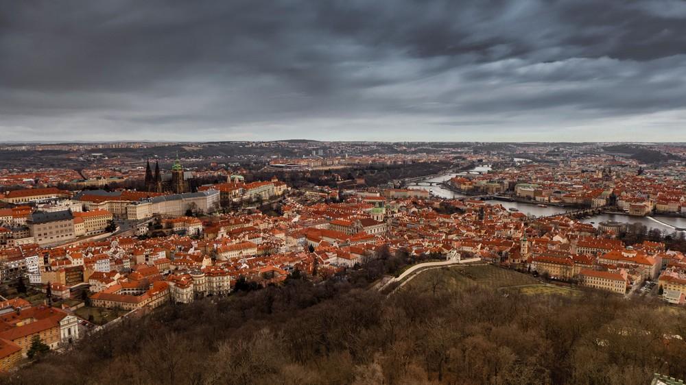 Widok z wieży Petrin