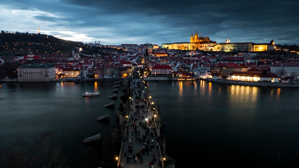 Praga Widok na Hradczany i Malą Strane