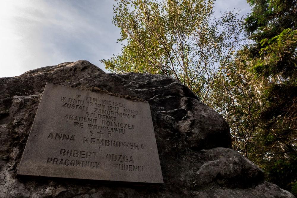Tablica upamiętniające śmierć wrocławskich studentów