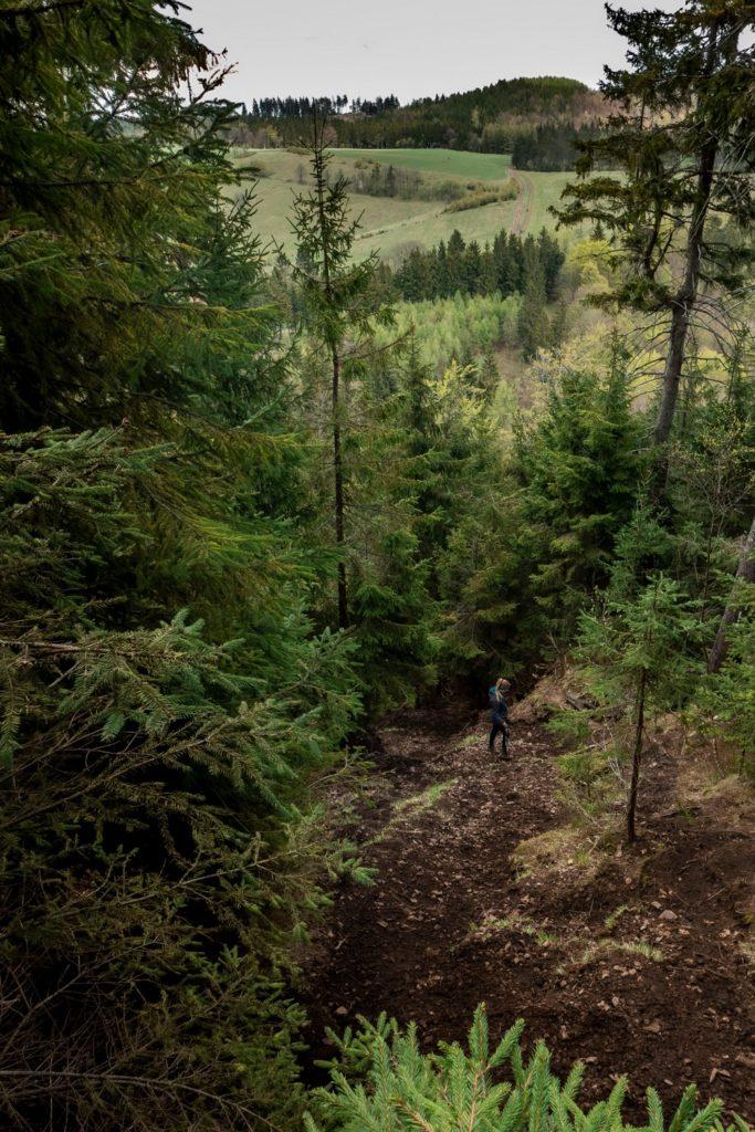 Strome zejście z Waligóry