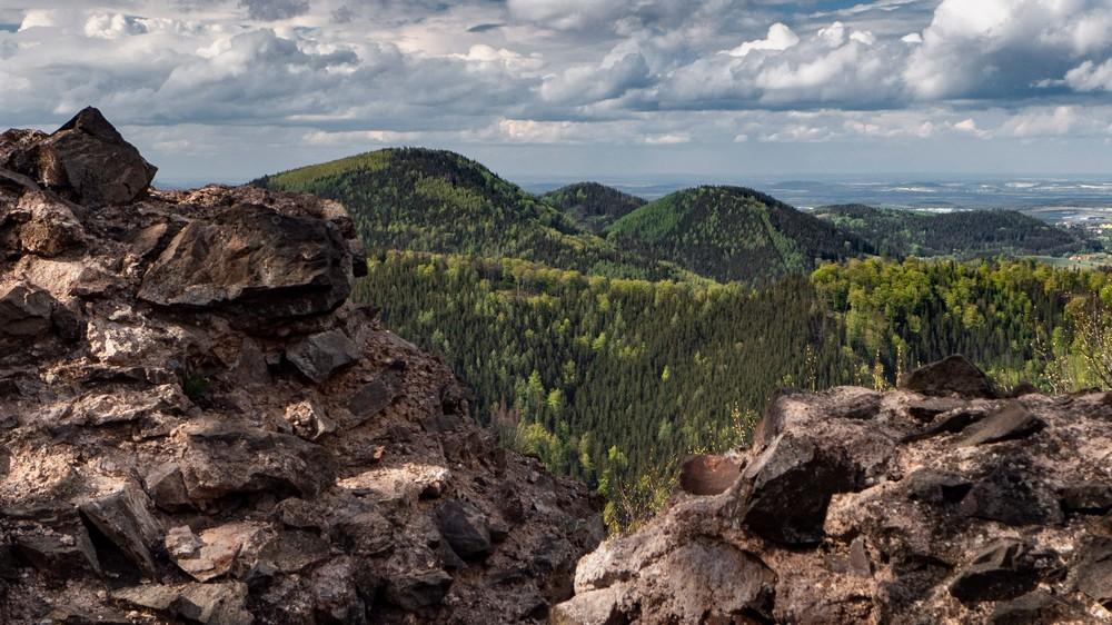 Widoki z zamku Rogowiec