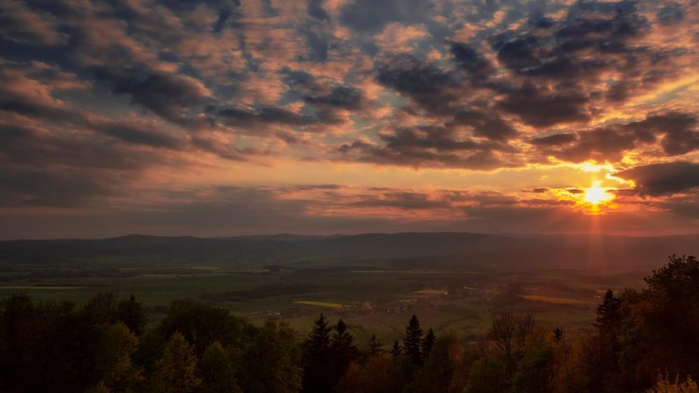 Zachód słońca z Iglicznej