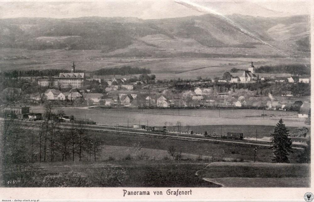 Gorzanów ze stacją kolejową. 1905