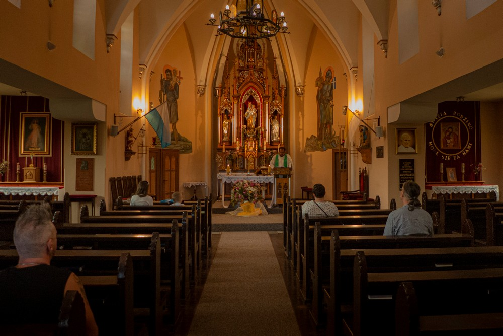 Kaplica zamkowa w której odprawiane są nabożeństwa