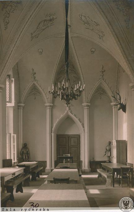 Zamkowa sala rycerska. 1939-1945