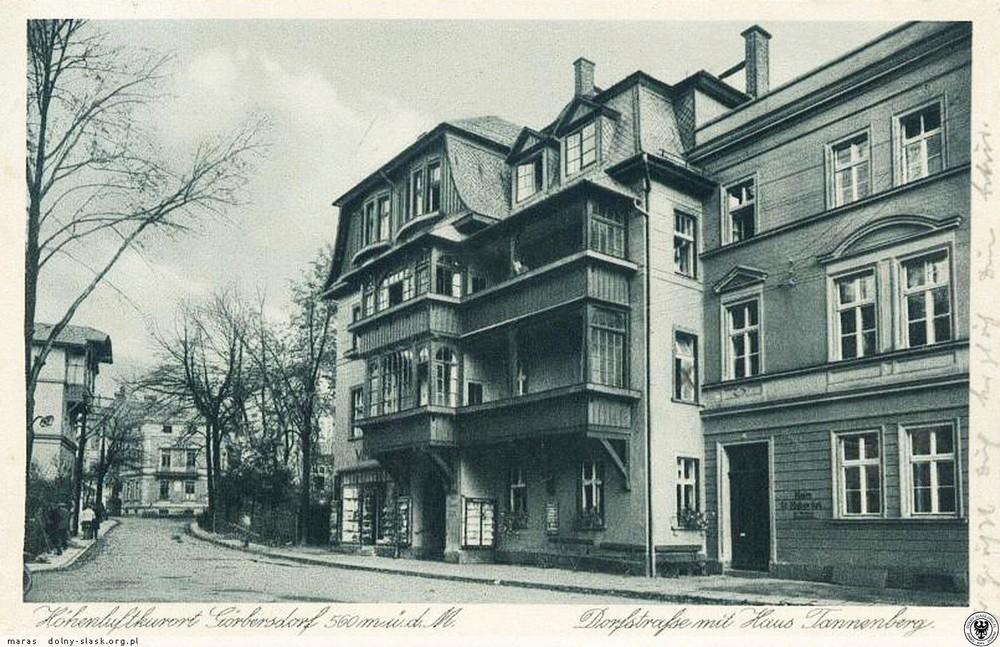 Haus Tannenberg, po wojnie mieszkali tu Kieślowscy.1929
