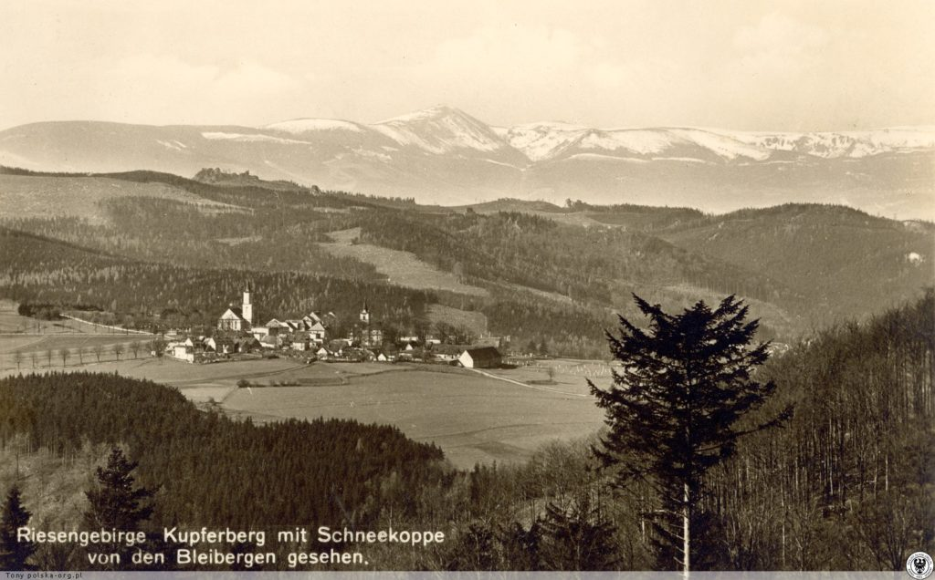 Panorama Miedzianki i Karkonoszy. 1930-1940