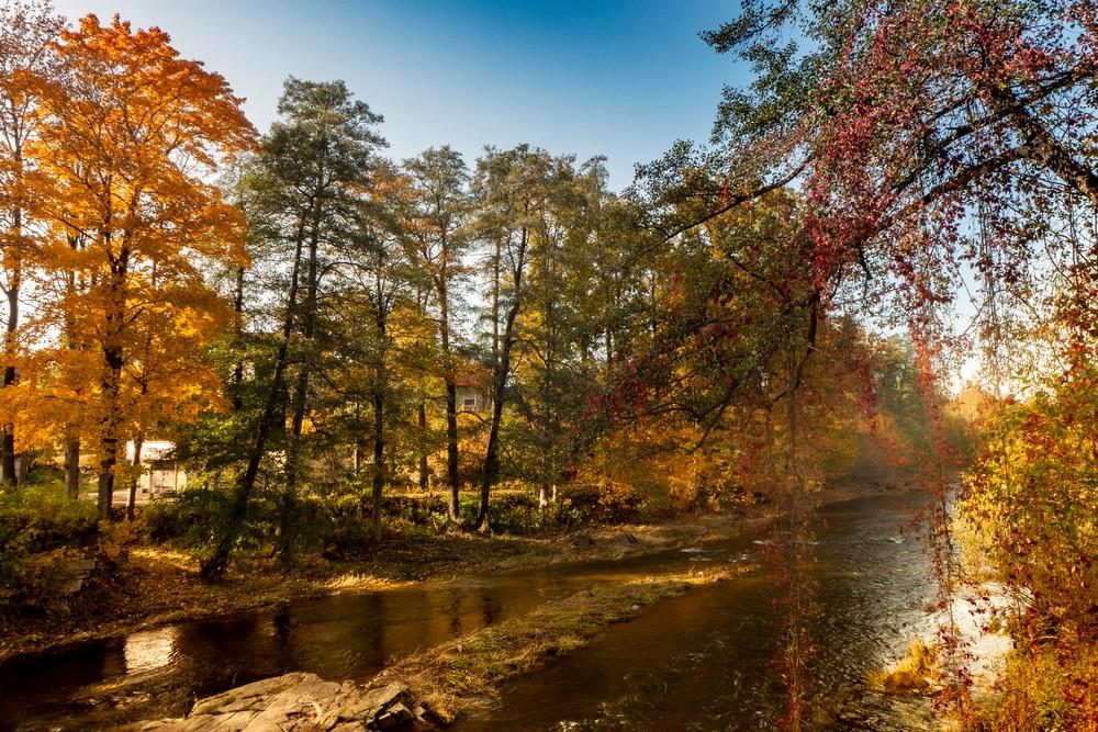 Rzeka Bóbr w Janowicach Wielkich