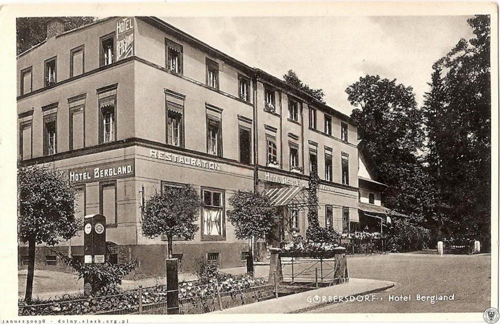 Sokołowsko - Hotel Bergland. Obecnie kinoteatr Zdrowie. 1930-1940