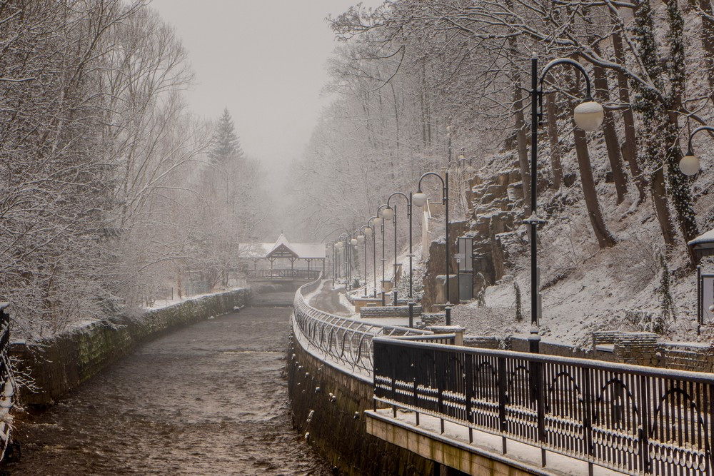 Polanica w zimowej scenerii